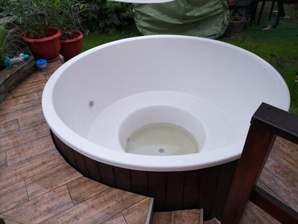 Üvegszálas fürdődézsa fehér