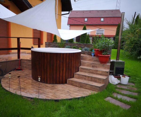 Üvegszálas fürdődézsa beépítés