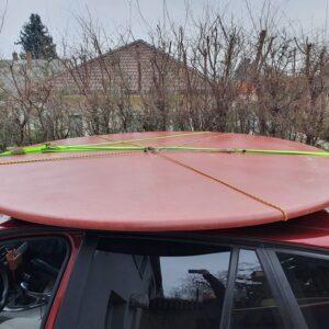 Üvegszálas tető – 2m átmérő